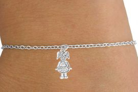 <Br>         LEAD & NICKEL FREE!!<BR>W14588B - TAP DANCER ON A<Br>CHILDREN'S CHAIN BRACELET<BR>               AS LOW AS $3.25