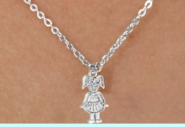 """<Br>             LEAD & NICKEL FREE!!<BR>     W14589N - TAP DANCER ON A<Br>CHILDREN'S 12"""" CHAIN NECKLACE<BR>                   AS LOW AS $3.55"""