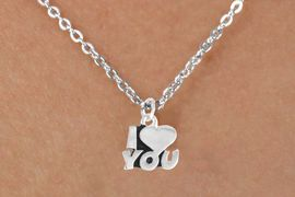"""<Br>             LEAD & NICKEL FREE!!<BR>   W14593N - """"I LOVE YOU"""" ON A<Br>CHILDREN'S 12"""" CHAIN NECKLACE<BR>                   AS LOW AS $3.55"""