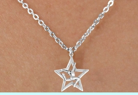 """<Br>              LEAD & NICKEL FREE!!<BR> W14595N - GYMNAST STAG LEAP<Br>CHILDREN'S 12"""" CHAIN NECKLACE<BR>                   AS LOW AS $3.55<BR>           �2008"""