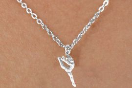 "<Br>             LEAD & NICKEL FREE!!<BR>       W14597N - GYMNAST ON A<Br>CHILDREN'S 12"" CHAIN NECKLACE<BR>                  AS LOW AS $3.55"