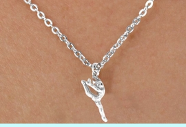 """<Br>             LEAD & NICKEL FREE!!<BR>       W14597N - GYMNAST ON A<Br>CHILDREN'S 12"""" CHAIN NECKLACE<BR>                  AS LOW AS $3.55"""