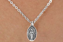 "<Br>             LEAD & NICKEL FREE!!<BR>W14599N - 2-SIDED VIRGIN MARY<Br>CHILDREN'S 12"" CHAIN NECKLACE<BR>              FROM $3.55 TO $7.50"