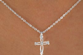 "<Br>              LEAD & NICKEL FREE!!<BR>W14603N - PETALED CROSS ON A<Br>CHILDREN'S 12"" CHAIN NECKLACE<BR>               FROM $3.55 TO $7.50"