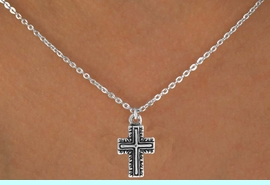 """<Br>             LEAD & NICKEL FREE!!<BR>     W14605N - CURLICUE CROSS<Br>CHILDREN'S 12"""" CHAIN NECKLACE<BR>             FROM $3.55 TO $7.50"""