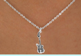"""<Br>               LEAD & NICKEL FREE!!<BR>W14608N - ELECTRIC BASS GUITAR<Br>  CHILDREN'S 12"""" CHAIN NECKLACE<BR>                    AS LOW AS $3.55"""