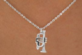 "<Br>            LEAD & NICKEL FREE!!<BR>      W14614N - TRUMPET ON A<Br>CHILDREN'S 12"" CHAIN NECKLACE<BR>                  AS LOW AS $3.55"