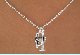 """<Br>            LEAD & NICKEL FREE!!<BR>      W14614N - TRUMPET ON A<Br>CHILDREN'S 12"""" CHAIN NECKLACE<BR>                  AS LOW AS $3.55"""