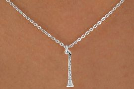 "<Br>             LEAD & NICKEL FREE!!<BR>       W14624N - CLARINET ON A<Br>CHILDREN'S 12"" CHAIN NECKLACE<BR>                   AS LOW AS $3.55"