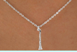 """<Br>             LEAD & NICKEL FREE!!<BR>       W14624N - CLARINET ON A<Br>CHILDREN'S 12"""" CHAIN NECKLACE<BR>                   AS LOW AS $3.55"""