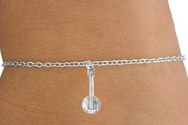 <Br>        LEAD & NICKEL FREE!!<BR>      W14625B - BANJO ON A<Br>CHILDREN'S CHAIN BRACELET<BR>              AS LOW AS $3.25
