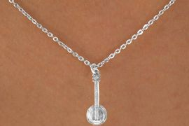 "<Br>            LEAD & NICKEL FREE!!<BR>         W14626N - BANJO ON A<Br>CHILDREN'S 12"" CHAIN NECKLACE<BR>                  AS LOW AS $3.55"
