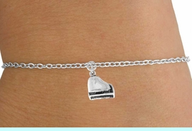 <Br>        LEAD & NICKEL FREE!!<BR>      W14627B - PIANO ON A<Br>CHILDREN'S CHAIN BRACELET<BR>              AS LOW AS $3.25