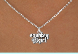 """<Br>            LEAD & NICKEL FREE!!<BR>     W14636N - """"COUNTRY GIRL""""<Br>CHILDREN'S 12"""" CHAIN NECKLACE<BR>                  AS LOW AS $3.55"""