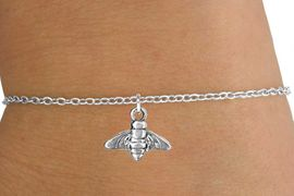 <Br>        LEAD & NICKEL FREE!!<BR>         W14637B - BEE ON A<Br>CHILDREN'S CHAIN BRACELET<BR>              AS LOW AS $3.25