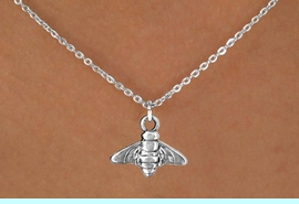 """<Br>           LEAD & NICKEL FREE!!<BR>            W14638N - BEE ON A<Br>CHILDREN'S 12"""" CHAIN NECKLACE<BR>                  AS LOW AS $3.55"""