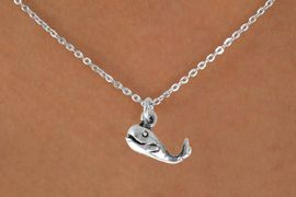 "<Br>             LEAD & NICKEL FREE!!<BR>      W14642N - SMILING WHALE<Br>CHILDREN'S 12"" CHAIN NECKLACE<BR>                  AS LOW AS $3.55"