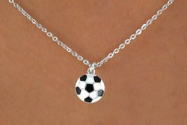 """<Br>             LEAD & NICKEL FREE!!<BR>         W14646N - SOCCER BALL<Br>CHILDREN'S 12"""" CHAIN NECKLACE<BR>                  AS LOW AS $3.55"""