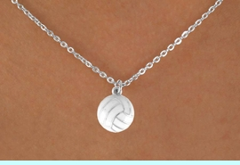 """<Br>            LEAD & NICKEL FREE!!<BR>      W14650N - VOLLEYBALL ON<Br>CHILDREN'S 12"""" CHAIN NECKLACE<BR>                   AS LOW AS $3.55"""