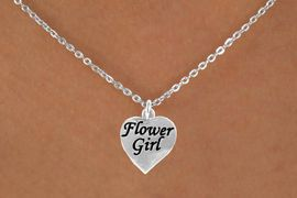 "<Br>            ADJUSTABLE  LEAD, CADMIUN & NICKEL FREE!!<BR>W14745N - ""FLOWER GIRL"" HEART<Br>CHILDREN'S 8"" CABLE CHAIN NECKLACE<BR>                   AS LOW AS $5.55"