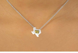 <Br>              LEAD & NICKEL FREE!!<br>W15092N - TWO-TONE MINIATURE<Br>TEXAS NECKLACE AS LOW AS $3.65