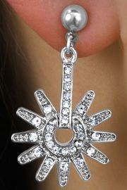 <Br>            LEAD & NICKEL FREE!!<Br> W15662E - GENUINE AUSTRIAN<Br>CRYSTAL SPUR DROP EARRINGS<Br>           FROM $6.75 TO $15.00