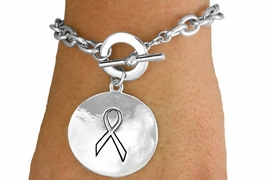 "<Br>               LEAD & NICKEL FREE!!<Br>W15663B - ""MY CANCER CANNOT""<Br>   TWO-SIDED DISC DROP TOGGLE<Br>  BRACELET FROM $5.63 TO $12.50"
