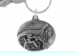 """<Br>             LEAD & NICKEL FREE!!<Br> W15666KC - """"UNTAMED SPIRIT""""<Br>PEWTER MOTORCYCLE KEY CHAIN<bR>                          FROM $2.99"""