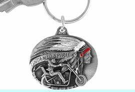 """<Br>                LEAD & NICKEL FREE!!<Br>    W15669KC - """"UNTAMED SPIRIT""""<Br>ENAMELED MOTORCYCLE KEY CHAIN<bR>                              FROM $2.99"""