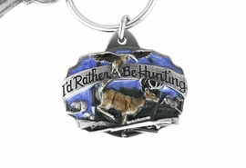 "<Br>                    LEAD & NICKEL FREE!!<Br>W15846KC - ""I'D RATHER BE HUNTING""<Br>  ENAMELED DEER HUNTING KEY CHAIN<bR>                                 FROM $2.99"