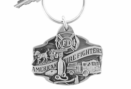 <Br>                 LEAD & NICKEL FREE!!<Br>W15930KC - AMERICAN FIREFIGHTER<Br>           FIREFIGHTER THEME SCENE<Br>                      KEY CHAIN $4.50