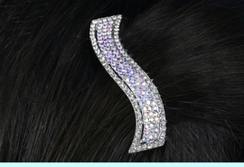 <br>           LEAD & NICKEL FREE!!<Br>W15948HJ - GENUINE AUSTRIAN<Br>     CRYSTAL WAVE HAIR COMB<Br>           FROM $5.63 TO $12.50