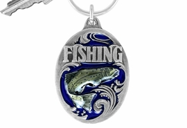 "<Br>             LEAD & NICKEL FREE!!<Br> W16068KC - ENAMEL COLORED<Br>""FISHING"" SCULPTED KEY CHAIN<Br>           FROM $4.50 TO $10.00"