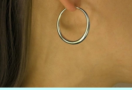 """<Br>           LEAD & NICKEL FREE!!<Br>W16316E - 1 1/4"""" GOLD FINISH<Br>LIGHT HOLLOW HOOP EARRINGS<Br>          FROM $4.66 TO $9.25"""