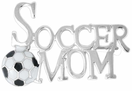 "<Br>       LEAD & NICKEL FREE!!<Br>W16323P - ""SOCCER MOM""<Br>  PIN FROM $2.25 TO $5.00"