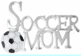 """<Br>       LEAD & NICKEL FREE!!<Br>W16323P - """"SOCCER MOM""""<Br>  PIN FROM $2.25 TO $5.00"""