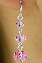 <Br>             LEAD & NICKEL FREE!!<Br>   W16792EA - 3-STYLE HANDCUT<Br>GENUINE PINK AUSTRIAN CRYSTAL<Br>     DROP EARRING ASSORTMENT<Br>             FROM $2.25 TO $4.50