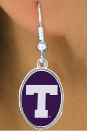 "<Br>      LEAD & NICKEL FREE!!<bR>W17167E - LICENSED TARLETON STATE<Br> UNIVERSITY ""TARLETON""<Br>EARRINGS FROM $3.94 TO $8.75"