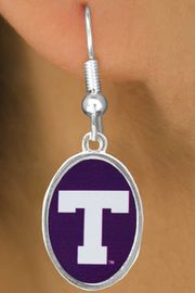 """<Br>      LEAD & NICKEL FREE!!<bR>W17167E - LICENSED TARLETON STATE<Br> UNIVERSITY """"TARLETON""""<Br>EARRINGS FROM $3.94 TO $8.75"""