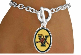 <Br>        LEAD & NICKEL FREE!!<bR>W17177B - LICENSED<Br> UNIVERSITY OF VERMONT<Br> BRACELET FROM $3.94 TO $8.75