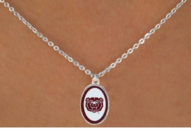 <Br>        LEAD & NICKEL FREE!!<bR>         W17232N - LICENSED <Br> MISSOURI STATE UNIVERSITY<Br>NECKLACE FROM $3.94 TO $8.75