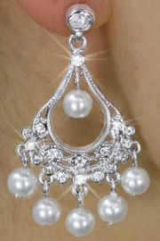 <Br>             LEAD & NICKEL FREE!!<Br>  W17940E - GENUINE AUSTRIAN<BR>        CRYSTAL & FAUX PEARL <Br>EARRINGS FROM $6.19 TO $13.75