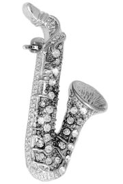 <Br>             LEAD & NICKEL FREE!!<BR>   W18223P - GENUINE AUSTRIAN<br>  CRYSTAL ACCENTED SAXOPHONE<Br>        PIN FROM $4.50 TO $10.00