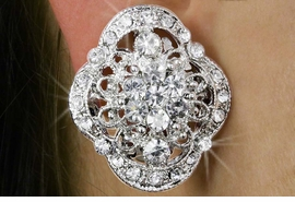 <Br>              LEAD & NICKEL FREE!!<Br>    W18286E - ELEGANT GENUINE<Br>      AUSTRIAN CRYSTAL CLIP-ON<Br>EARRINGS FROM $4.50 TO $10.00