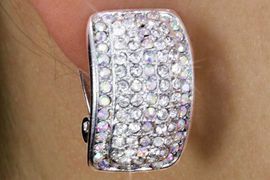 """<Br>            LEAD & NICKEL FREE!!<Br>  W18335E - GENUINE AUSTRIAN<Br>CRYSTAL """"CURVED RECTANGLE""""<Br>       CLIP-ON EARRINGS FROM<br>                 $6.75 TO $15.00"""