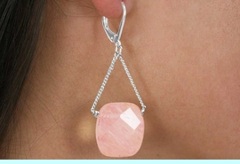 <Br>                 LEAD & NICKEL FREE!!<Br>         W18384EA - 3-COLOR  SEMI <Br>           PRECIOUS STONE EARRING <Br> ASSORTMENT FROM $7.31 TO $16.25