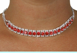 <Br>              LEAD & NICKEL FREE!!<Br>  W18438NE - GENUINE AUSTRIAN<br>  CRYSTAL & RED FACETED FAUX <Br>   STONE NECKLACE & EARRINGS<Br>          FROM $12.19 TO $22.50