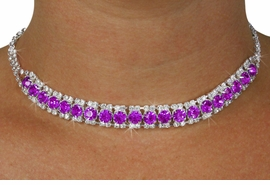 <Br>              LEAD & NICKEL FREE!!<Br>  W18439NE - GENUINE AUSTRIAN<br>  CRYSTAL & PURPLE FACETED FAUX <Br>   STONE NECKLACE & EARRINGS<Br>          FROM $12.19 TO $22.50