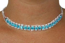 <Br>              LEAD & NICKEL FREE!!<Br>  W18441NE - GENUINE AUSTRIAN<br>  CRYSTAL & AQUA FACETED FAUX <Br>   STONE NECKLACE & EARRINGS<Br>          FROM $12.19 TO $22.50