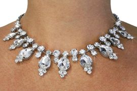 <Br>                 LEAD & NICKEL FREE!!<Br>W18683NE - RHINESTONE AND CRYSTAL<Br>      TEARDROP NECKLACE & EARRING<Br>           SET FROM $22.75 TO $42.00